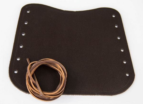 LEATHER LACEUP BRACER dark brown